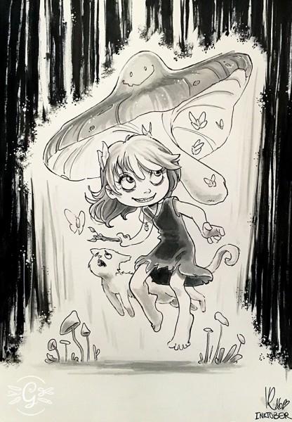 "Artprint ""Mushroom Witch"""