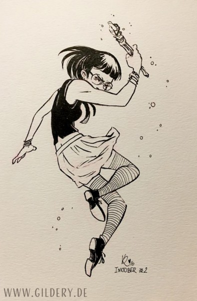 [Original] Inktober Magical Girl
